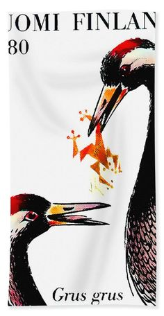 Common Crane 1 Bath Towel For Sale By Lanjee Chee