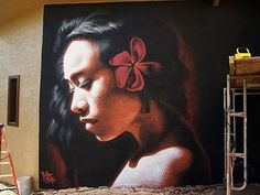 """Art by Miles MacGregor (El Mac)    ...This one reminds me of Mahana, the girl in the LDS video """"Johnny Lingo.""""..."""