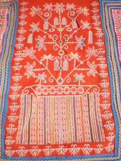 Embroided Folk Art Tribal Textile Panel By The by KulshiMumkin, $18.00