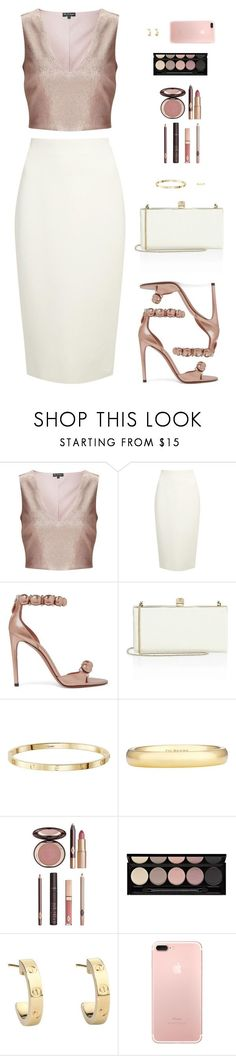 """Sin título #4579"" by mdmsb on Polyvore featuring moda, Miss Selfridge, Donna Karan, Alaïa, Jimmy Choo, De Beers, Charlotte Tilbury, Witchery y Cartier"