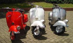 vintage vespa scooters