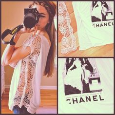 add some lace to your tshirt