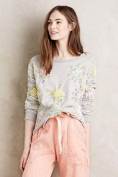 Embroidered Sunblossom Pullover - anthropologie.com