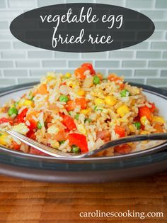 vegetable egg fried rice - quick, delicious and so much better than take out (plus a great way to use up odds and ends of leftover veg!)