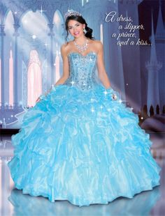 Cinderella Disney Royal Ball Quinceañera Dress #DressesByRusso