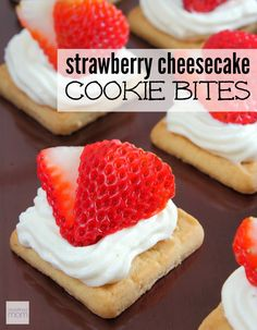 This kid-friendly six-ingredient no-bake strawberry cheesecake cookie bites recipe is an easy and lower calorie alternative to strawberry cheesecake. Plus, you can whip up a batch in under 15 minutes...perfect party food.