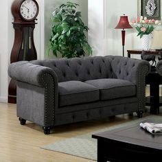 Stanford Gray Love Seat Collection CM6269GY-LV