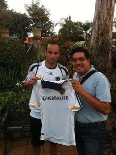 Landon Donovan de visita en Morelia. Un tipazo. Me firmó el jersey de LA Galaxy.