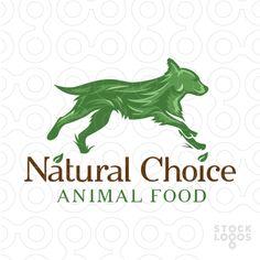 Logo Sold beautiful stylized running dog design