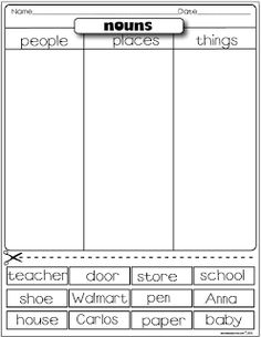 Freebies From The Lesson Plan Diva. Practice on nouns, verbs silent e, syllables, & so much more!