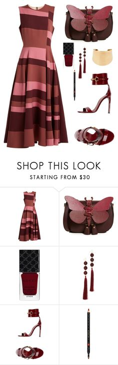 """""""Untitled #3197"""" by christawallace ❤ liked on Polyvore featuring Roksanda, Anya Hindmarch, Gucci, Deepa Gurnani and Chloé"""