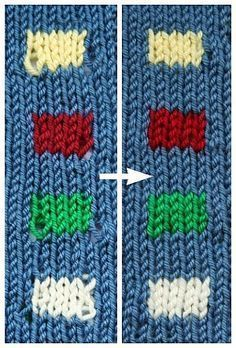 A Great Technique for Neater Color Changes (Knitting