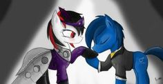 Queen BlackJack and P-21 at the Gala (Fallout Equestria: Project Horizons)