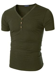 Doublju Men Stylish Slim Fitted Half Sleeve T-Shirt, Khak... http://www.amazon.com/dp/B00X79JVOM/ref=cm_sw_r_pi_dp_-lirxb1TAC5H2
