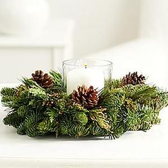 Incense Cedar Candle Ring - Complete your table with our Incense Cedar Candle Ring. This gift includes one centerpiece which makes a festive focal point for your holiday table. Order more than one to create a unique table runner.