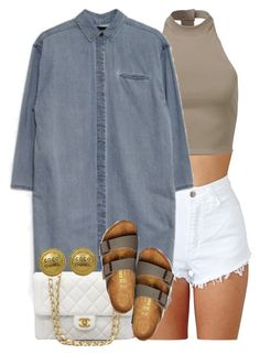 """""""Untitled #1353"""" by power-beauty ❤ liked on Polyvore featuring Chanel and Birkenstock"""