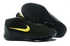 new arrival 2aafd e09c0 2017 Nike Kobe AD Mid Black Gold For Sale Nike Sneakers, All Black Sneakers,