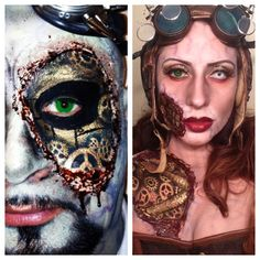 More steampunk makeup by me.