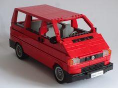 Lego VW T4 Lego Technic, Vw T4, Volkswagen, Transporter Van, T4 Camper, Lego Toys, Lego Worlds, Lego Models, Custom Lego