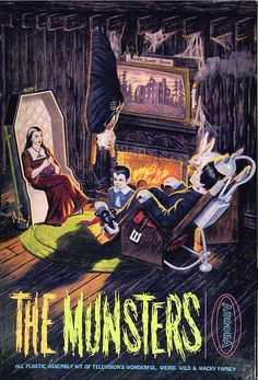 "Aurora ""The Munsters"" Model Kit Box Art Munsters Tv Show, The Munsters, Munsters Theme, Munsters Grandpa, Munsters House, Famous Monsters, Classic Monsters, Plastic Model Kits, Plastic Models"