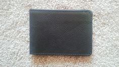 Slim Wallet Men Purse Hand Made Genuine Leather BiFold Card Holder Black Wallet