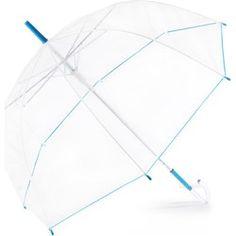 Parasol Przeźroczysty z niebieskim paskiem Perlleti - Niebieski