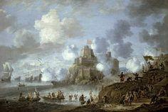 Mediterranean Castle under Siege from the Turks