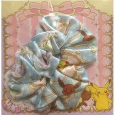 Pokemon Center 2013 Pikachu Eevee Hair Scrunchie