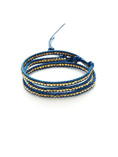 Leather & Gold Nugget Wrap Bracelet by Chan Luu on sale at Gilt $99