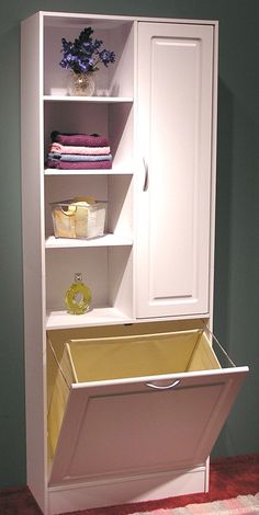 "Hamper ""Drop"" This would be perfect to not have to run laundry down stairs. :)"