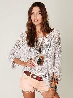 Free People Tape Yarn Beach Sweater at Free People Clothing Boutique - StyleSays
