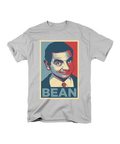 Another great find on #zulily! Silver Mr. Bean 'Bean' Tee - Adult #zulilyfinds