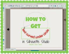 Curving Text Under a Circle in Silhouette Studio