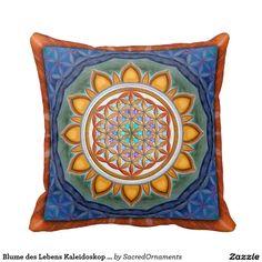 Blume des Lebens Kaleidoskop - Kissen