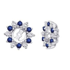 14K White Gold 1/4 ct. Diamond with Alternating 3/8 ct. Sapphire Earring Jackets: http://www.amazon.com/Diamond-Alternating-Sapphire-Earring-Jackets/dp/B000FA0B40/?tag=greavidesto05-20