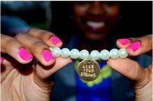 Live Your Dreams Pearl Stretch Bracelet | Inspirational Bracelet