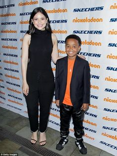 Support system:Also lending their support was Nickelodeon stars Melissa Carcache and Jailen Bates