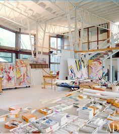 Willem de Kooning's studio, 1982