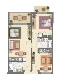 hotel suites floor plans - Google Search