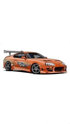 Fast and Furious Toyota Supra Toyota Supra, Tuner Cars, Jdm Cars, Nissan Skyline, Fast And Furious, Art Mur, Fast Sports Cars, Car Vector, Car Illustration