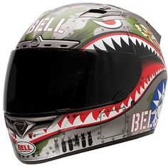 <b>Bell Vortex Flying Tiger Full Face Helmet</b><br><br>- Integrated speaker pockets for audio speakers<br>- ClickRelease for the fastest, easiest, tool-free shield swaps ever<br>- NutraFog II superior anti-fog, anti-scratch and UV protected shield<br>- Exclusive Magnefusion magnetic strap keeper<br>- Padded chin strap with D-ring closure<br>- Five year warranty<br>- Weight: 1600 grams<br>- Snell M2010 and DOT certified<br><br>- <b>Note</b>: Helmet shown with optional tinted shield. Clear…