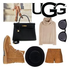 """""""The New Classics With UGG: Contest Entry"""" by courtneyward99 ❤ liked on Polyvore featuring UGG, rag & bone, Loro Piana, Hermès, Eugenia Kim, Yves Saint Laurent and ugg"""