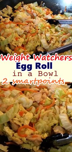Egg Roll in a Bowl with Only 2 weight watchers smart Points This Easy and quick Egg roll in a Bowl recipe has all the flavors of a traditional egg roll. This Egg Roll in a Bowl Come with Only 2 weight watchers smart Points and also Points plus. Weight Watchers Lunches, Weight Watchers Smart Points, Weight Watchers Diet, Weight Watcher Dinners, Egg Roll Recipes, Slaw Recipes, Diet Recipes, Cooking Recipes, Healthy Recipes
