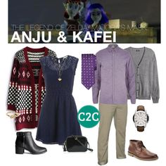 """""""Anju & Kafei (The Legend of Zelda: Majora's Mask) Inspired Outfit"""" by console-to-closet on Polyvore"""