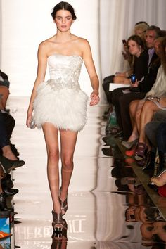 Before she walked on Chanel's runway, she was wearing this lil' feather butt…
