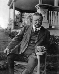 """Teddy Roosevelt - """"Friends, I shall ask you to be as quiet as possible. I don't know whether you fully understand that I have just been shot; but it takes more than that to kill a Bull Moose"""". Giving a 90 min speech"""