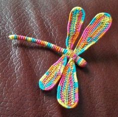 3-D Crochet Dragonfly with Wire by Josey Louis
