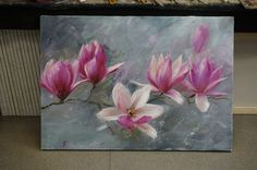 Step by Step acrylic painting on Canvas for beginners Magnolia painting Flower Painting Canvas, Painting & Drawing, Canvas Art, Simple Flower Drawing, Flower Art, Watercolor Flowers, Watercolor Art, Acrilic Paintings, Nature Drawing