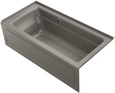 Archer Alcove Bath with Bask™ Heated Surface, Integral Apron, Tile Flange and Right-Hand Drain