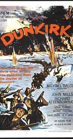 Painting - Classic Movie Poster - Dunkirk by Esoterica Art Agency , Best Movie Posters, Classic Movie Posters, Cinema Posters, Movie Poster Art, Classic Films, Old Movies, Vintage Movies, Vintage Posters, Dunkirk Movie